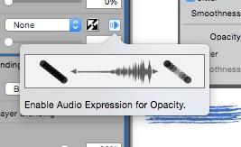 Painter 2016 audio expression