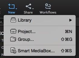 KeyFlow Pro toolbar, New option
