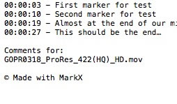 MarkX 3 exports to text files