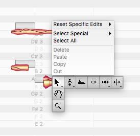 melodyne 4 studio note editing