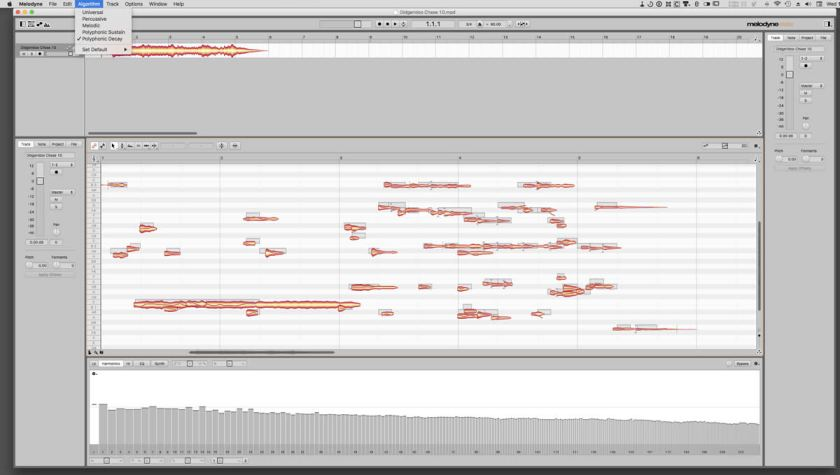 Melodyne 4 manipulates notes, overtones and tracks to sculpt
