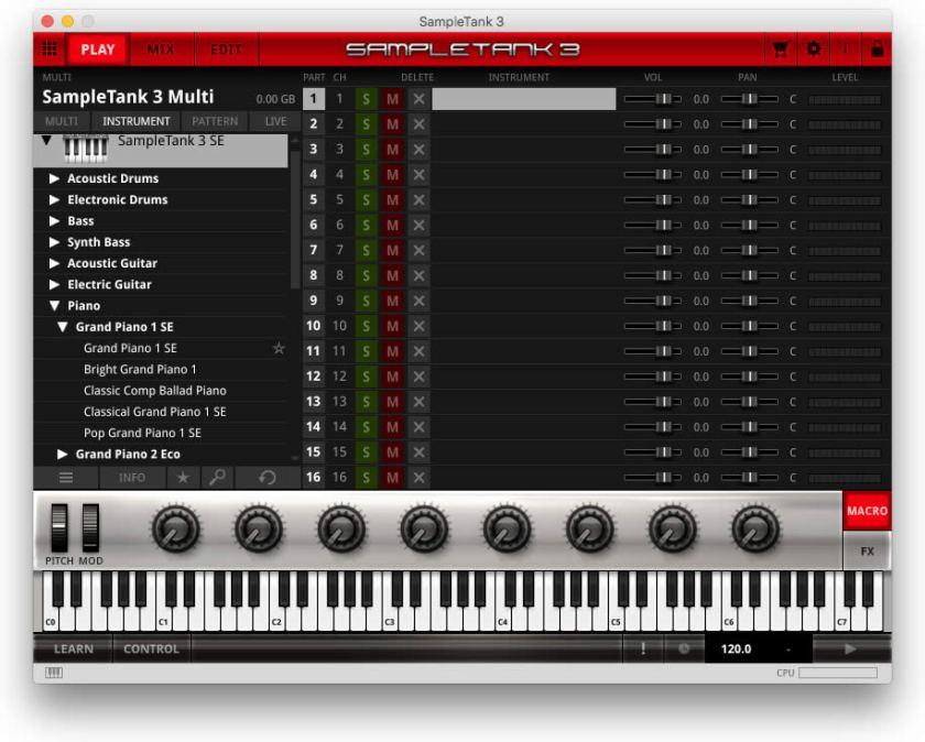 audio sample in sampletank 3 se