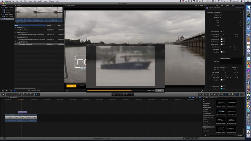 mcallouts tech for Final Cut Pro X