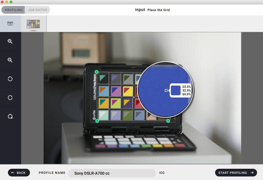 basiccolor input camera profile software