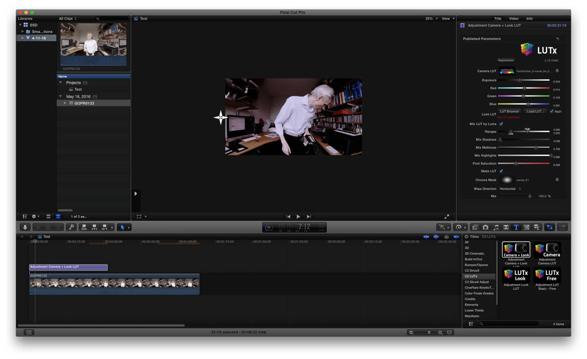 lut plugin for Final Cut Pro X lutx