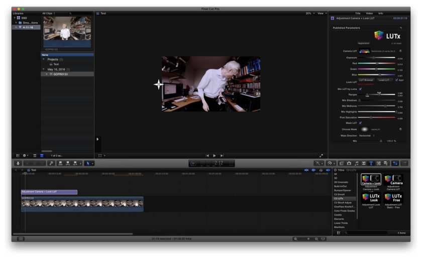 lut plugin for Final Cut Pro X lutx