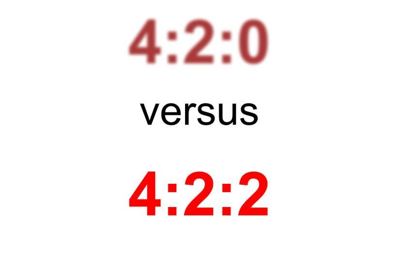 420 vs 422 subsampling