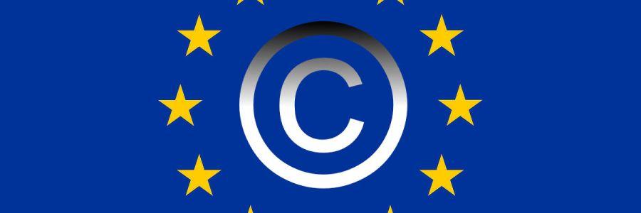 EU flag with copyright symbol