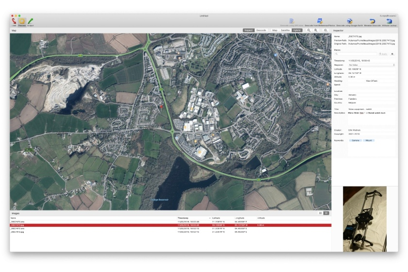 HoudahGeo map view. Review of the app.