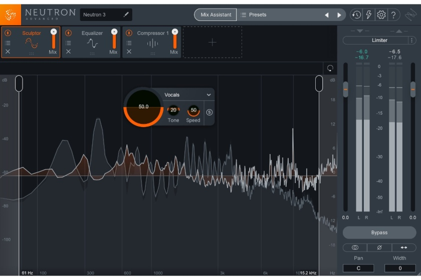 iZotope Neutron 3 Sculptor interface - news of Neutron 3's release.