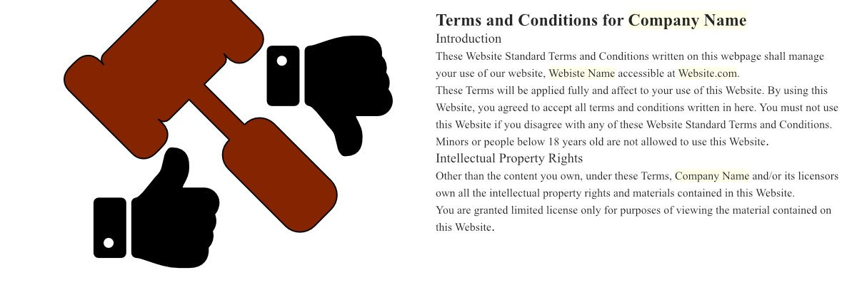 Suggestive image representing Terms and Conditions of a company