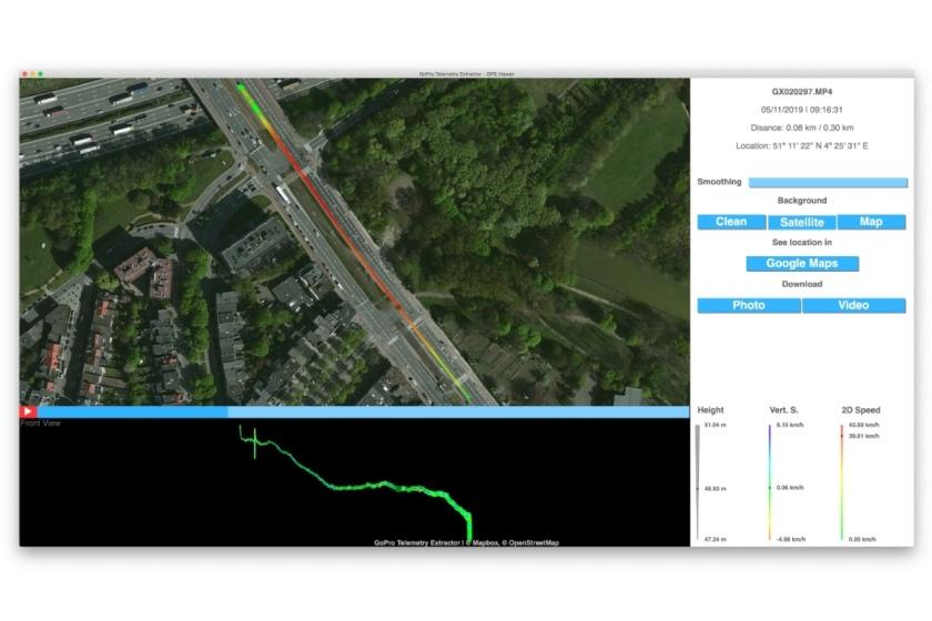 GoPro telemetry extractor map