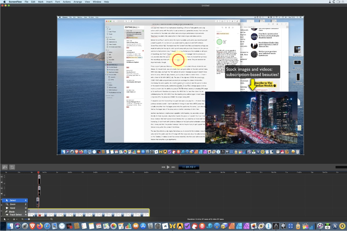 Visuals Producer videocast app review: ScreenFlow 9