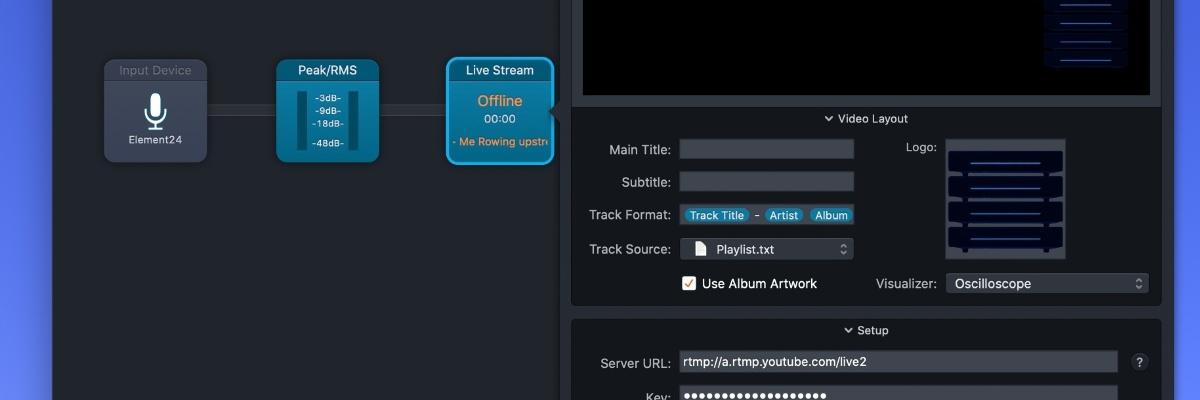 Audio Hijack Live Stream block - – Visuals Producer review