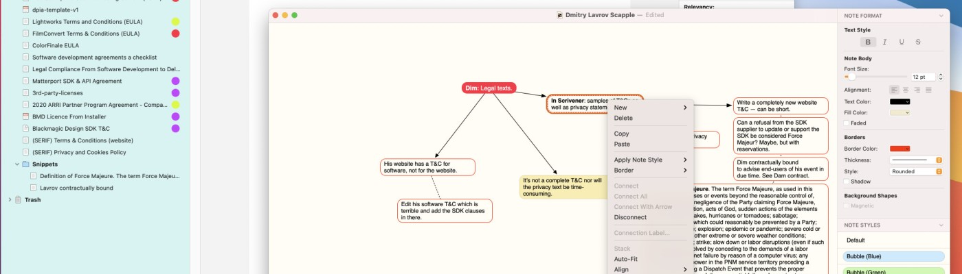Scapple mind mapping app review